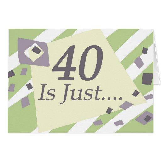 40.o Cumpleaños Tarjeton