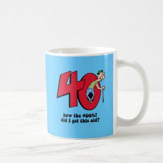 40.o cumpleaños taza