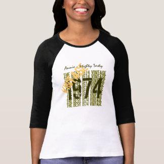 40.o Diagonal 1974 del vintage del regalo de Tee Shirts