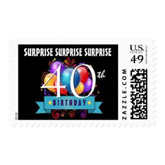 40.o El cumpleaños de la SORPRESA hincha B30Z Sello Postal