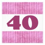 40.o El rosa de la fiesta de cumpleaños raya W902  Comunicados Personales