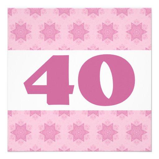 40.o El rosa festivo de la fiesta de cumpleaños pr Comunicado