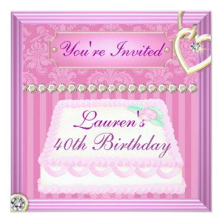 40.o El VINTAGE del cumpleaños PICA la invitación