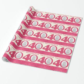 40.o Embalaje rosado de la crema de la diversión Papel De Regalo
