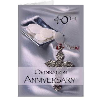 40.o Enhorabuena del aniversario de la ordenación, Tarjeta De Felicitación