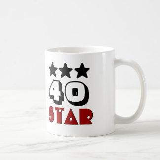 40.o Estrella del cumpleaños o CUAESQUIERA Taza Clásica