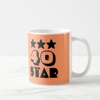 40.o Estrella del cumpleaños o CUALQUIE CORAL y Taza