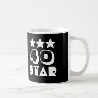 40.o Estrella o CUALQUIER año V06 del cumpleaños Taza