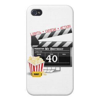 40.o Fiesta de cumpleaños de la película del cumpl iPhone 4/4S Fundas