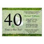"""40.o Fiesta de cumpleaños del golf Invitación 5"""" X 7"""""""