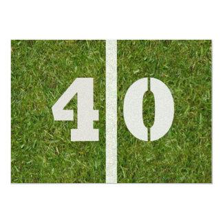 """40.o ¡Fiesta de cumpleaños! Personalizable de la Invitación 5"""" X 7"""""""