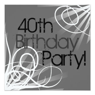 """40.o Frente de las invitaciones del remolino del Invitación 5.25"""" X 5.25"""""""