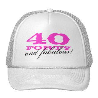 40.o ¡Gorra el | 40 del cumpleaños y fabuloso! Gorros Bordados