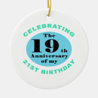 40 o Humor del cumpleaños Ornaments Para Arbol De Navidad