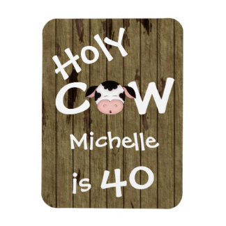 40.o imán personalizado del cumpleaños de la vaca