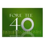 40.o Invitación de la celebración del cumpleaños -