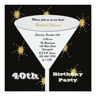 40.o Invitación de la fiesta de cumpleaños --