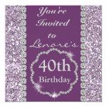40.o Invitación de la fiesta de cumpleaños de