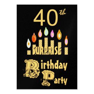40.o Invitación de la fiesta de cumpleaños de la