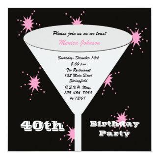 40.o Invitación de la fiesta de cumpleaños - pique