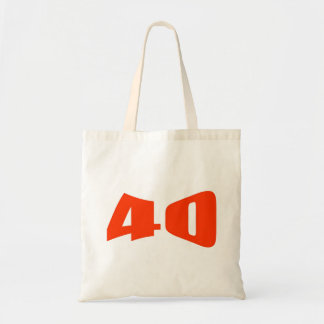 40.o Invitación del aniversario Bolsas De Mano