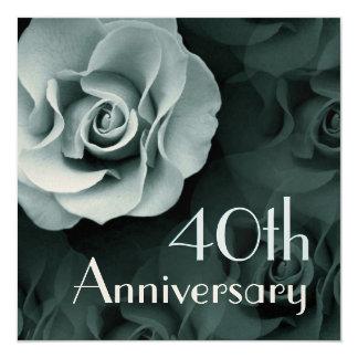 40.o Invitación del aniversario - TURQUESA PÁLIDA