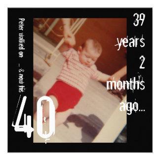 40 o Invitación del cumpleaños
