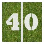 40.o Invitación del fiesta del fútbol del Invitación 13,3 Cm X 13,3cm