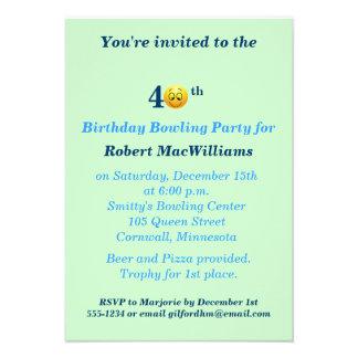 40 o Invitación feliz del fiesta de la cara del cu