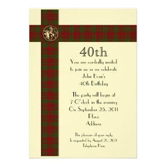 40 o Invitación formal de la fiesta de cumpleaños