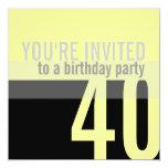 40.o Invitaciones de la fiesta de cumpleaños Comunicados Personalizados
