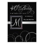 40.o Invitaciones de la fiesta de cumpleaños - con