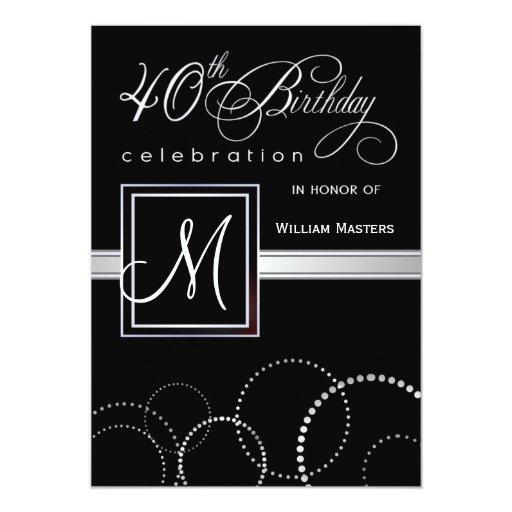 """40.o Invitaciones de la fiesta de cumpleaños - con Invitación 5"""" X 7"""""""