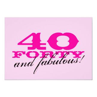"""40.o Invitaciones de la fiesta de cumpleaños para Invitación 5"""" X 7"""""""