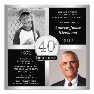 40 o Invitaciones del cumpleaños entonces y ahora Comunicados Personales