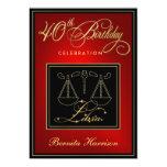 40.o Invitaciones del cumpleaños - libra de la Invitación 12,7 X 17,8 Cm