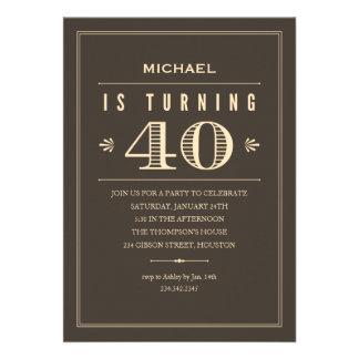 40 o Invitaciones del cumpleaños para los hombres