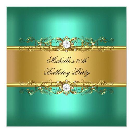 """40.o Joya del diamante del oro verde de jade de la Invitación 5.25"""" X 5.25"""""""