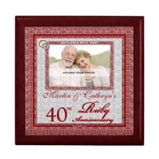 40.o Joyero de rubíes de la foto del aniversario Caja De Joyas