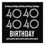 40.o La fiesta de cumpleaños invita al blanco negr Anuncios