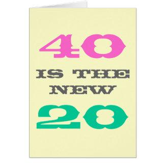 40.o La tarjeta de cumpleaños el | 40 es los
