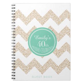 40.o Libro de visitas de la fiesta de cumpleaños - Libreta