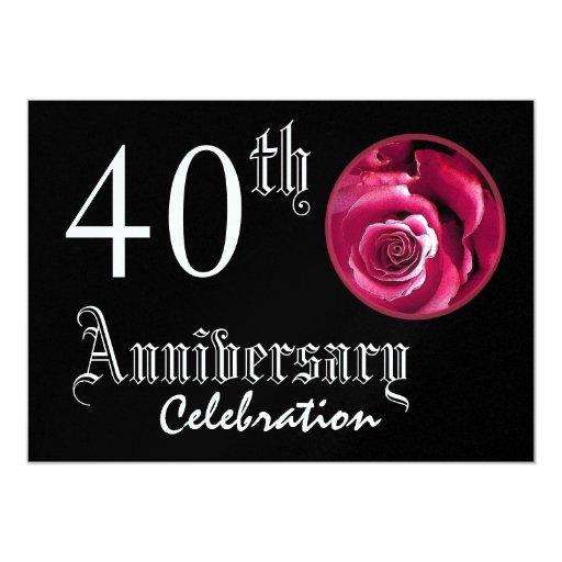 """40.o Metálico superior del rosa rojo del Invitación 5"""" X 7"""""""