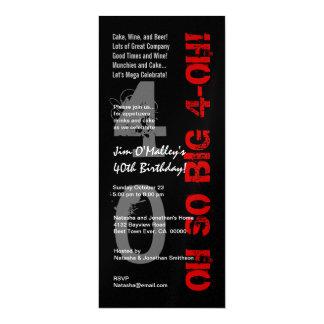 """40.o Metálicos negros rojos tan grandes del Invitación 4"""" X 9.25"""""""