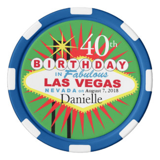 40.o microprocesador del casino del cumpleaños de fichas de póquer