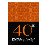 40.o Modelo de estrella doble anaranjado del vino  Comunicado Personalizado
