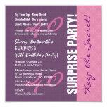 40.o Modelo púrpura y rosado del cumpleaños de la Anuncio Personalizado