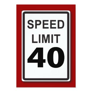 """40.o Muestra adaptable del límite de velocidad de Invitación 5"""" X 7"""""""