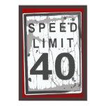 40.o Muestra sucia del límite de velocidad de la Invitaciones Personalizada
