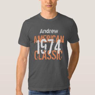 40.o Obra clásica americana V204A del regalo de Remeras